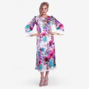 Made in Italy woman dress como silk floral SaraSabella