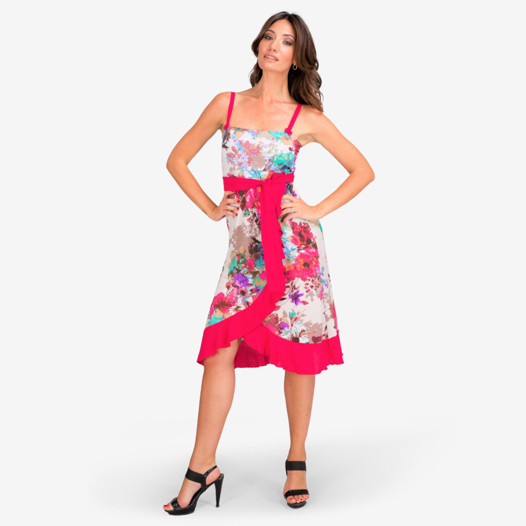 made in italy woman midi dress floral
