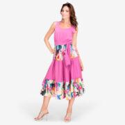 made in italy woman midi dress pink Sara Sabella