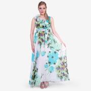 made in italy woman dress silk floral Sara Sabella