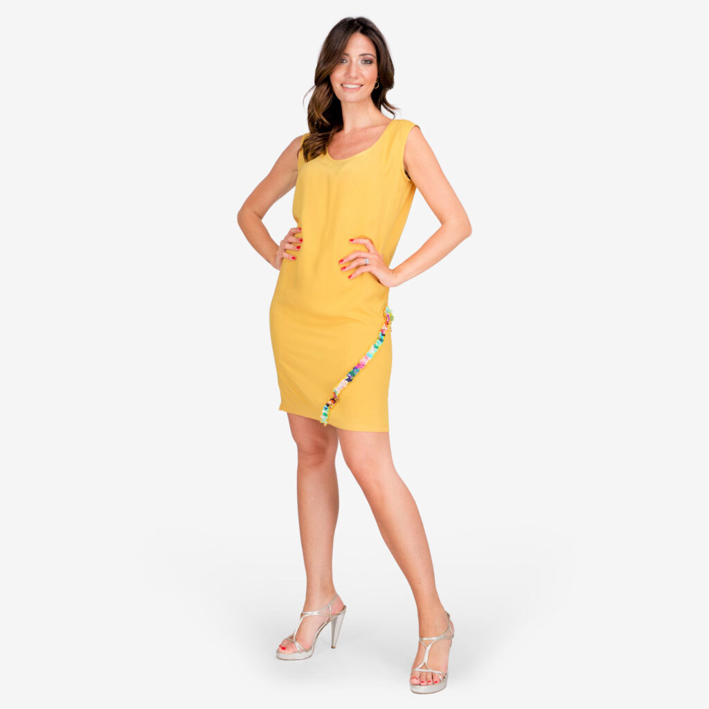 made in italy woman dress yellow