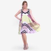 made in italy woman dress como silk Sara Sabella
