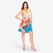 made in italy woman dress floral color Sara Sabella