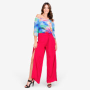 made in italy woman top pants red
