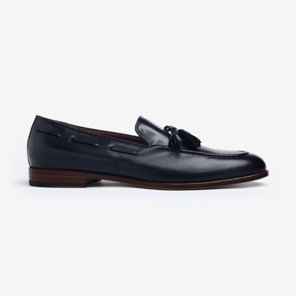 made in italy man shoes leather elegant tassel loafers