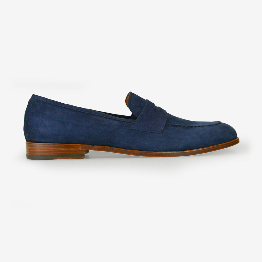made in italy man suede tassel loafers shoes elegant blue