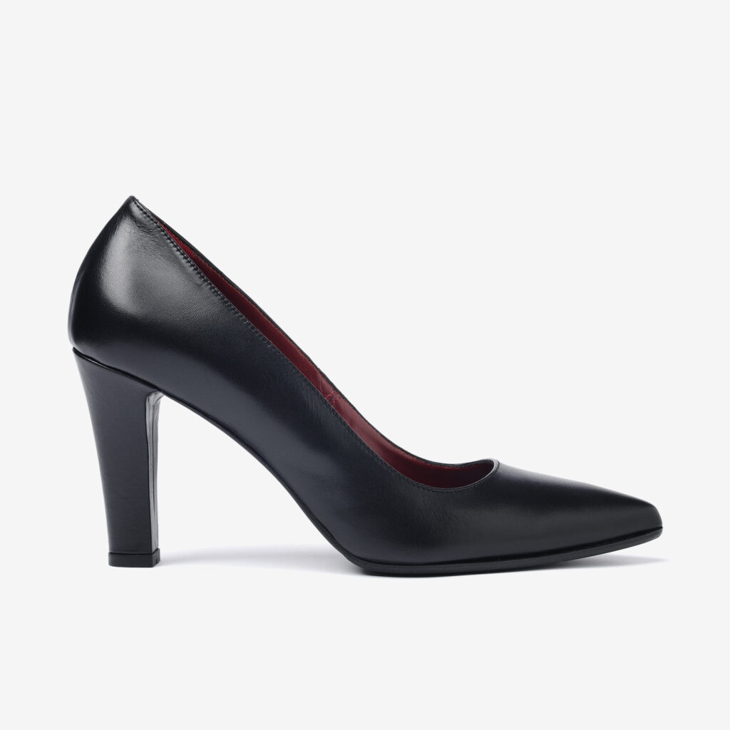 made in italy woman shoes leather elegant pumps decollete