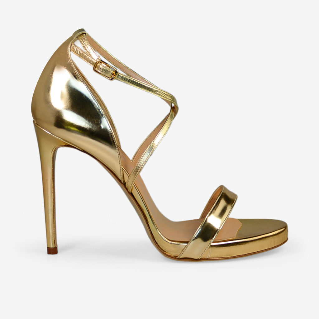 made in italy woman shoes leather elegant gold sandals