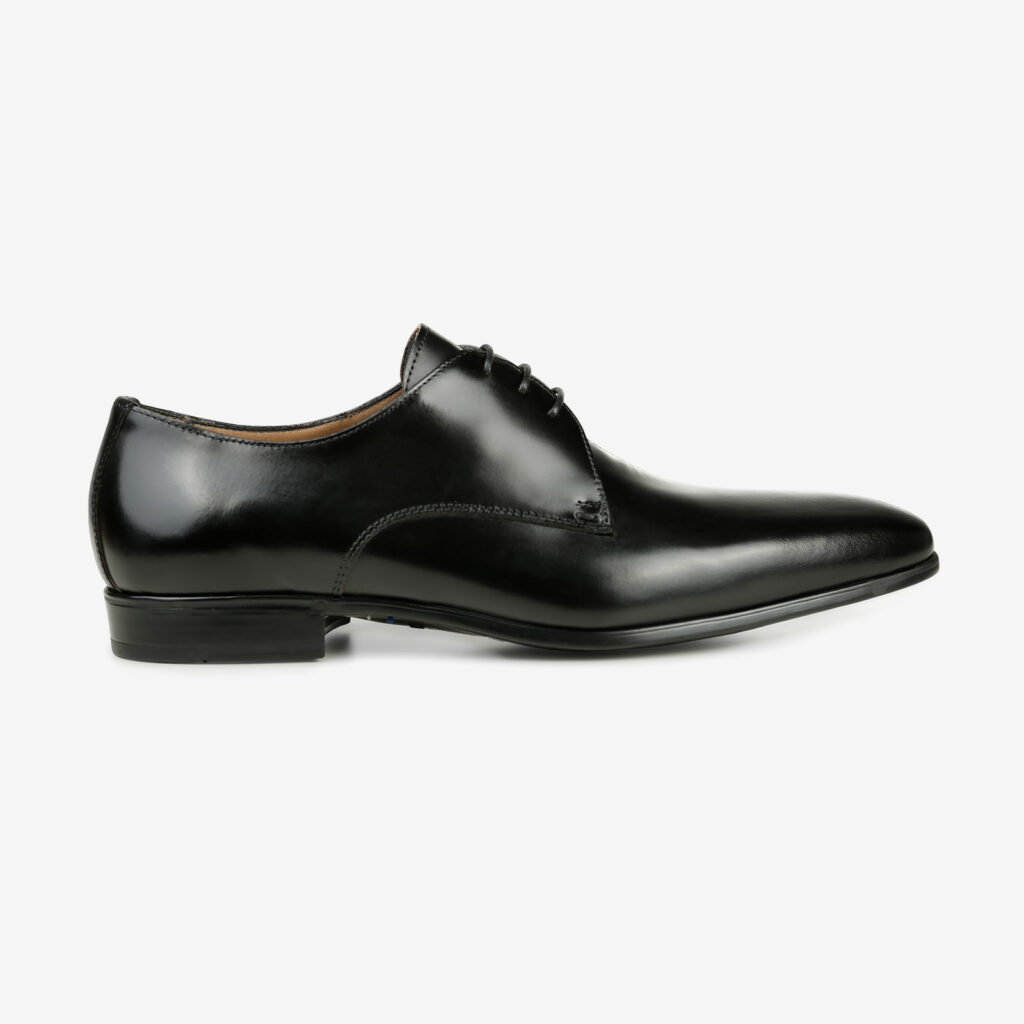 Made in Italy man's elegant leather shoes | black