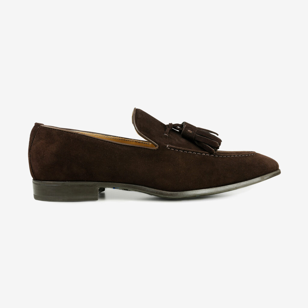 Made in Italy Man shoes suede elegant mocassin brown