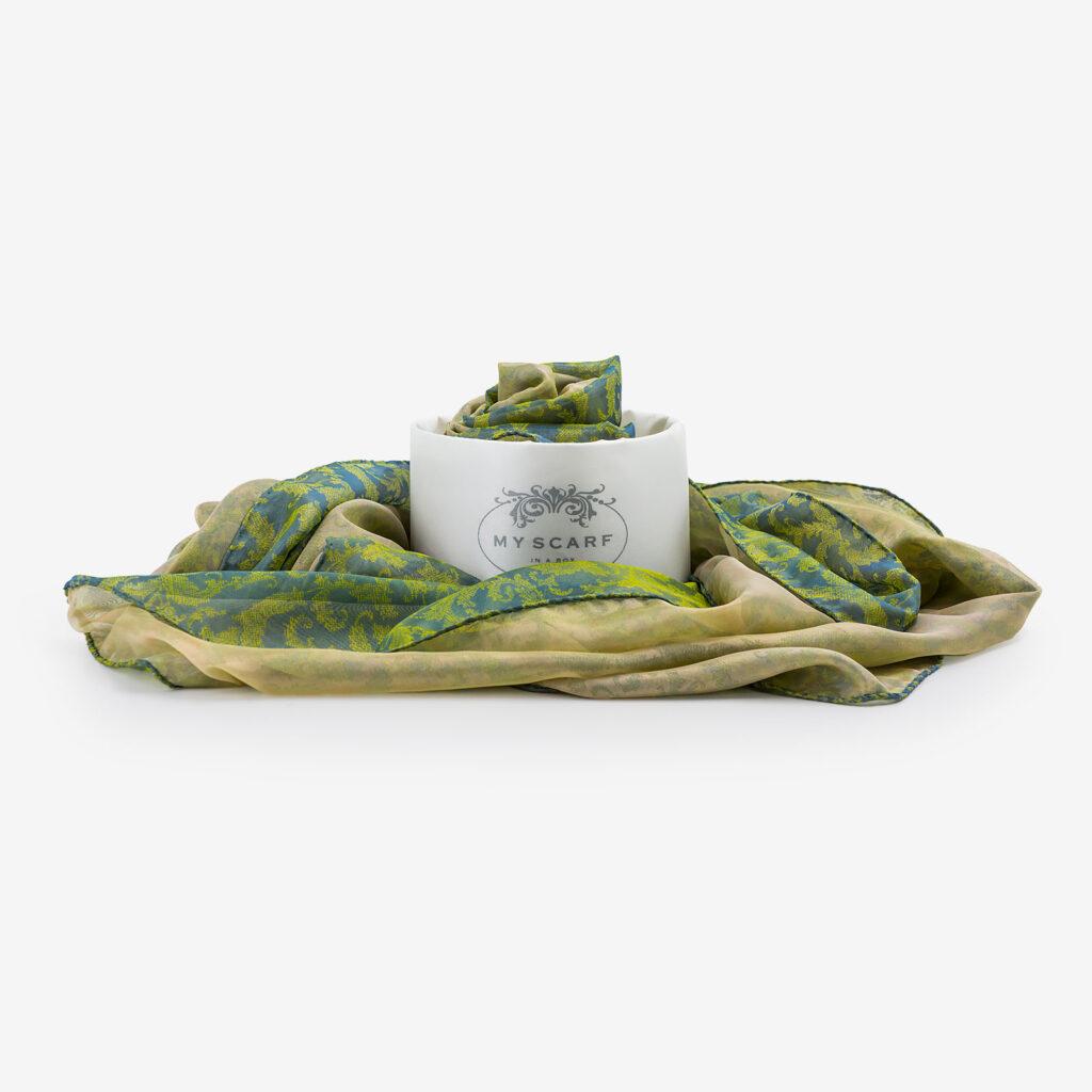 made in italy scarf silk multicolor bellagio
