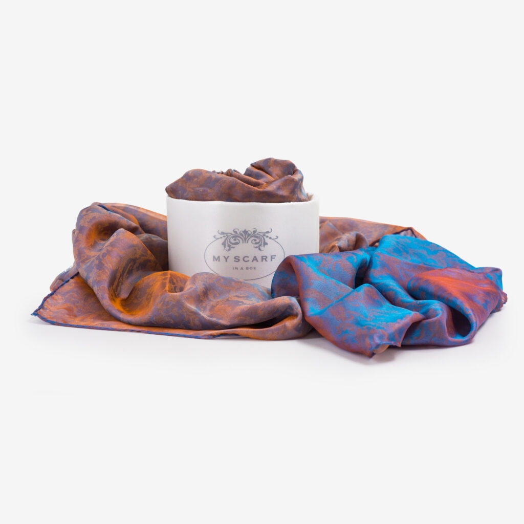 made in italy scarf silk multicolor verona my scarf in a box