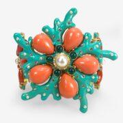 hand made in italy swarovski marine bracelet carlo zini milano