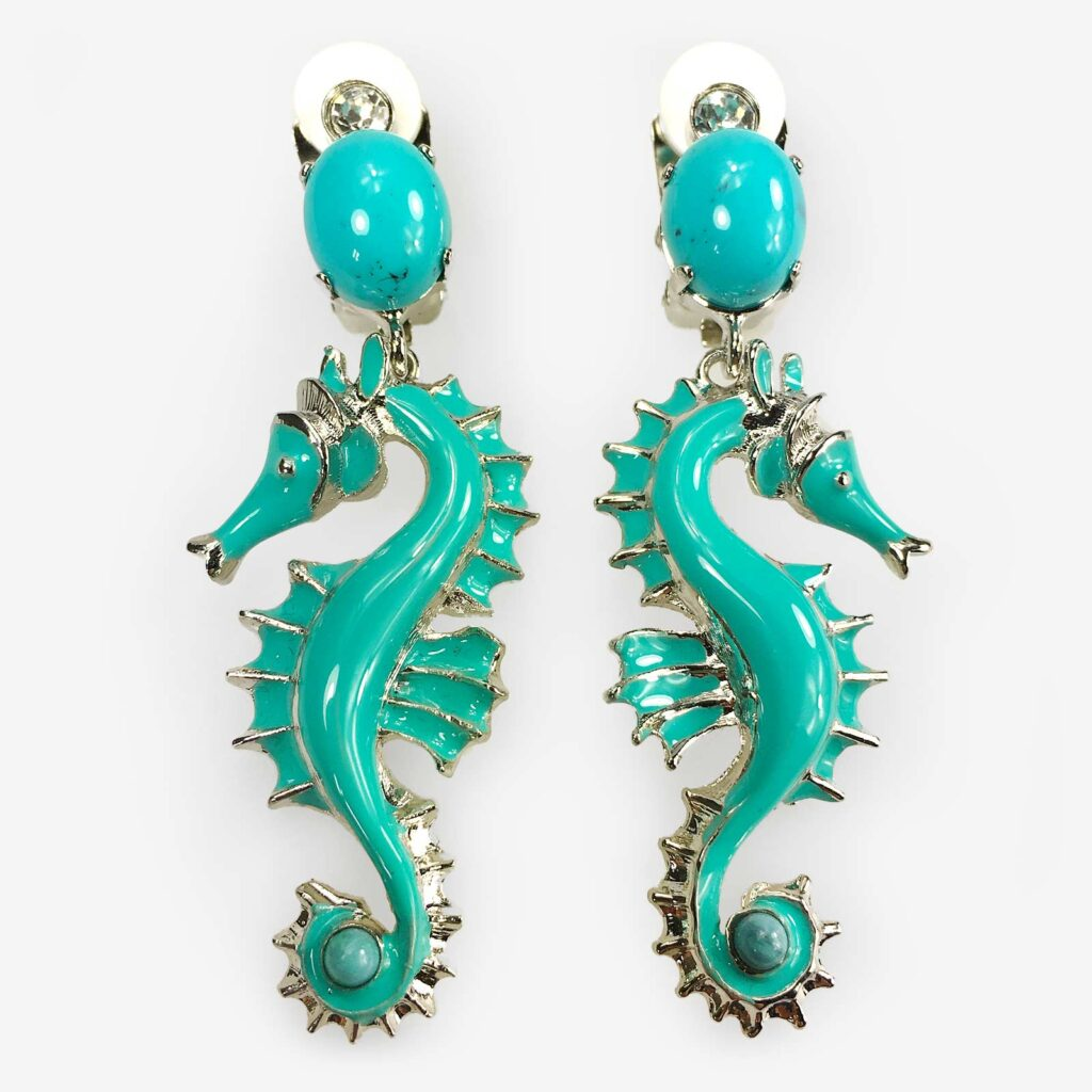 hand made in italy swarovski marine earring carlo zini milano