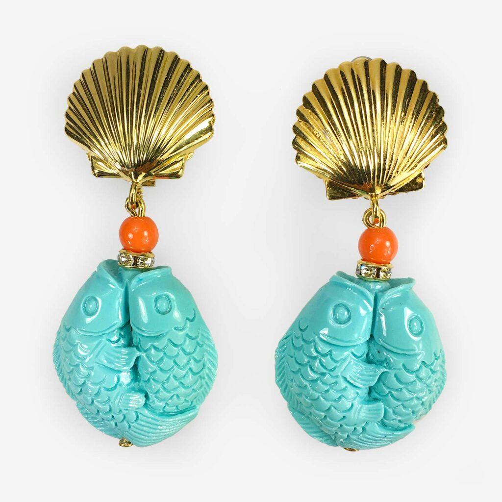hand made in italy marine earring carlo zini milano