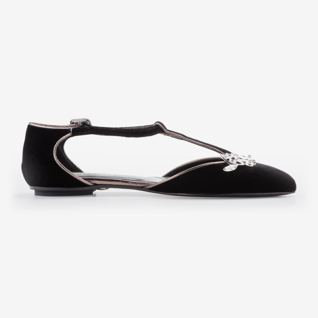 made in italy woman jewel shoes suede black leather elegant flats ivan rando