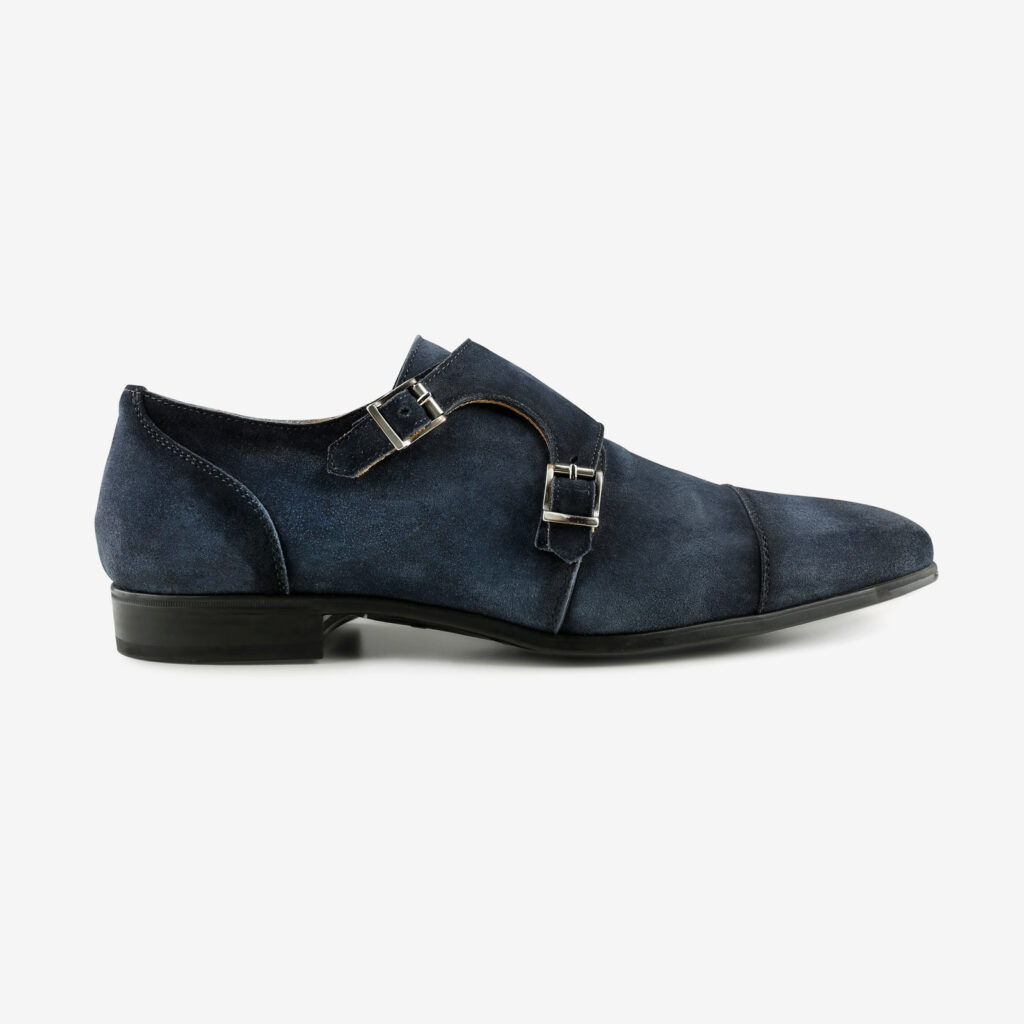 made in italy men shoes blue suede leather elegant