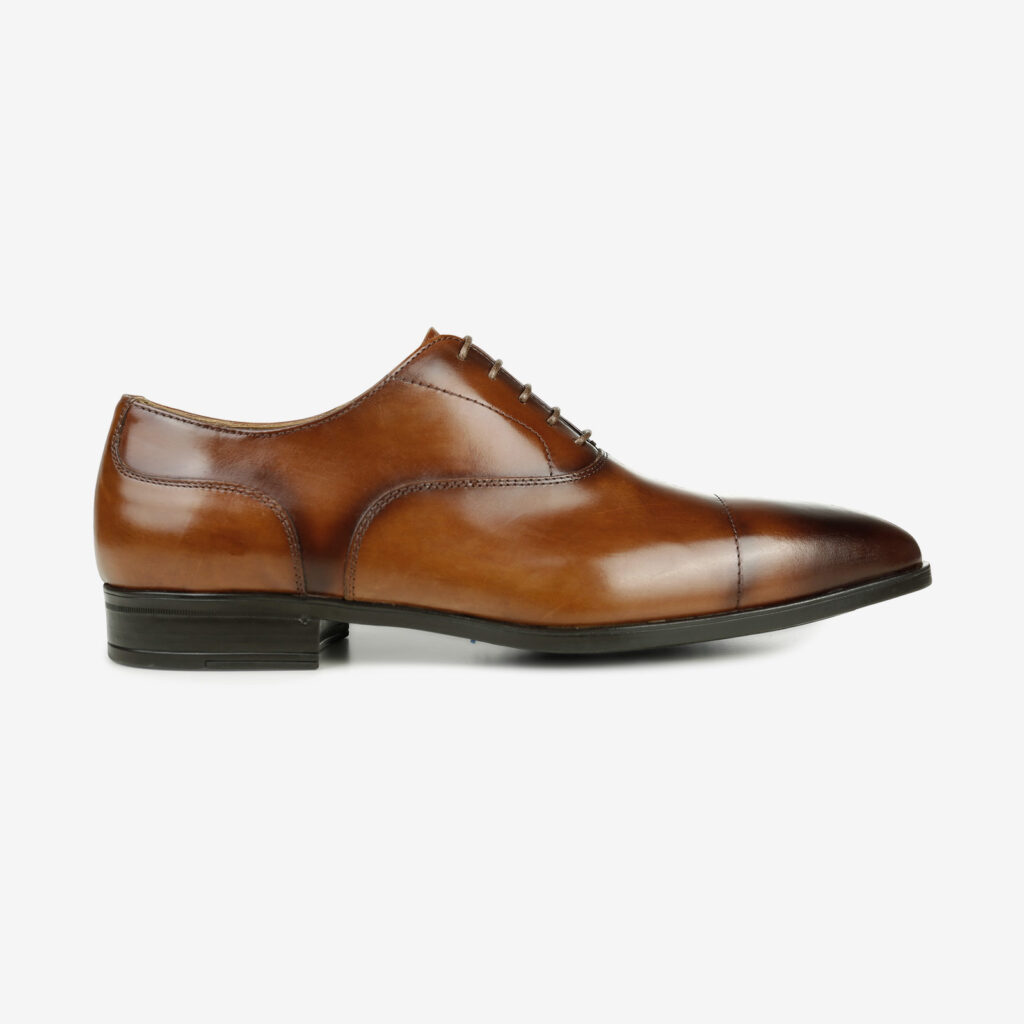 made in italy men shoes cognac leather elegant