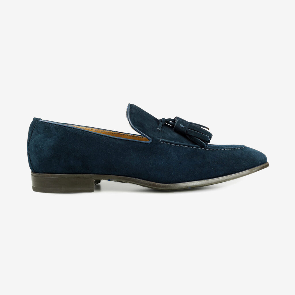 made in italy man shoes suede elegant mocassin blue