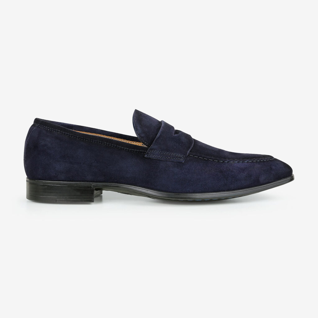 made in italy man shoes suede elegant mocassin blue giorgio
