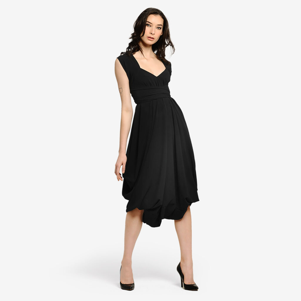 made in italy women transformable dress aikido