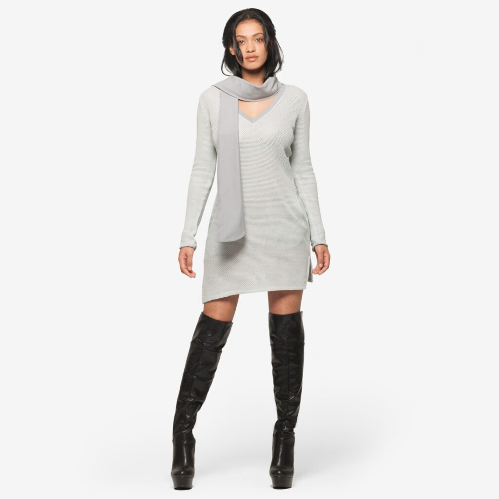 woman dress natural viber bamboo grey 2018 Marise Perusia