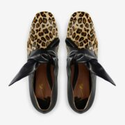 made in Italy woman leopard cavallino flats shoes merlyn F49