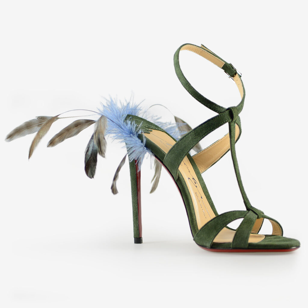 made in Italy woman shoes sandals merlyn green