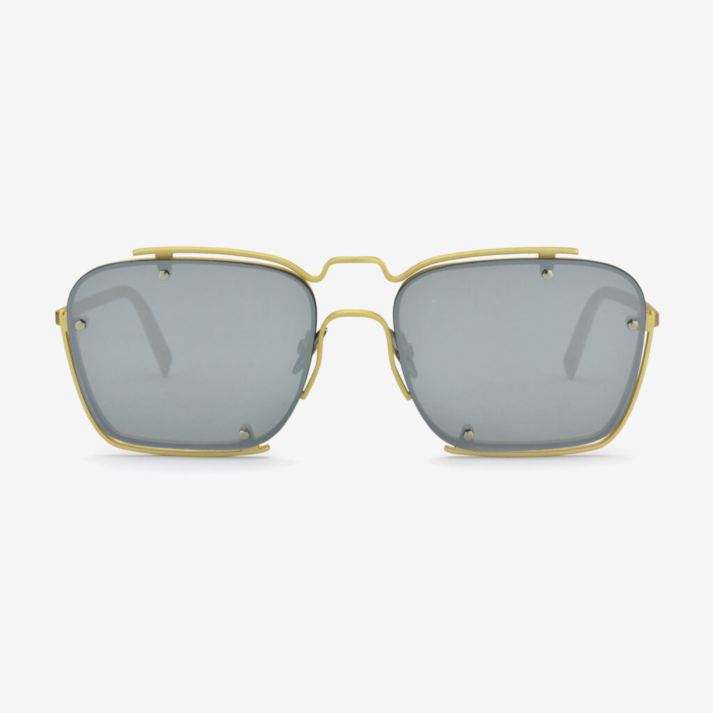 women's and men's sun glasses made in italy hunters glassing base peyote gold