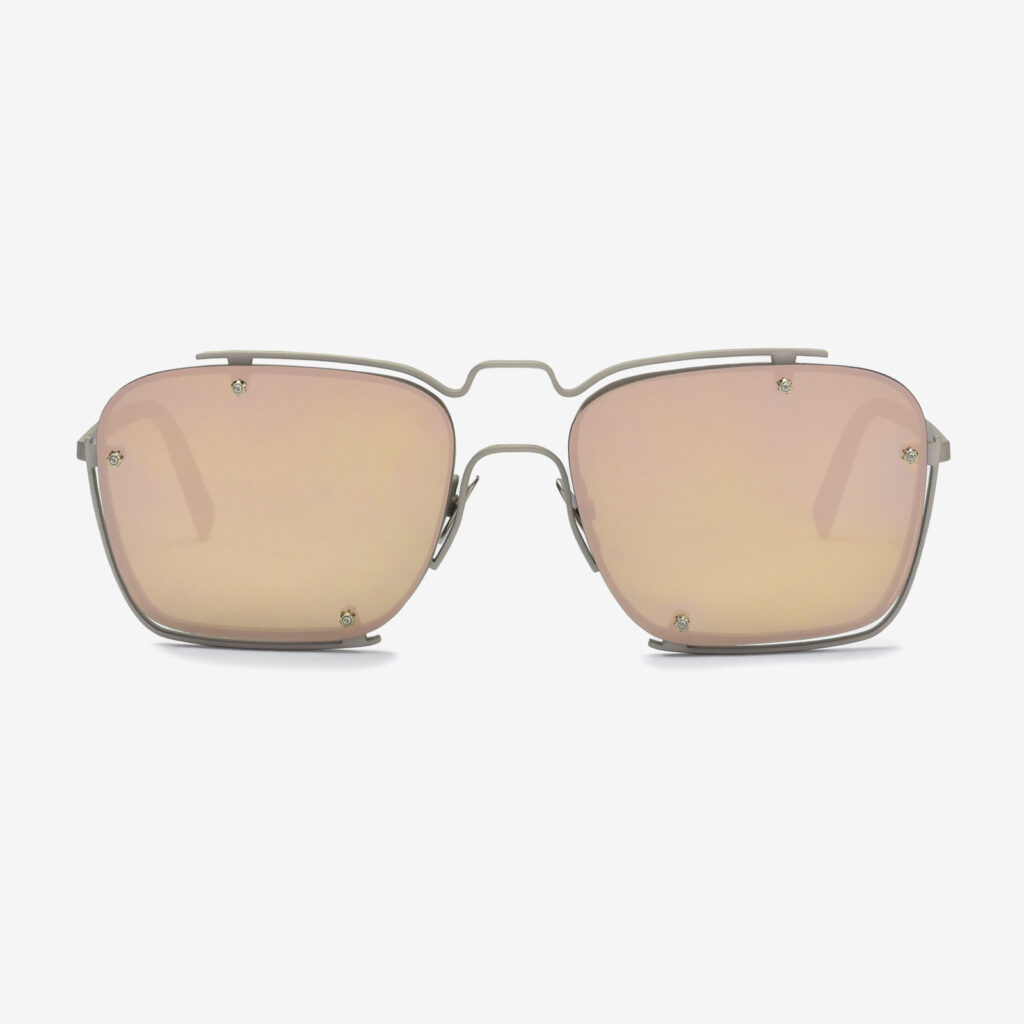 women's and men's sun glasses made in italy hunters glassing base peyote silver