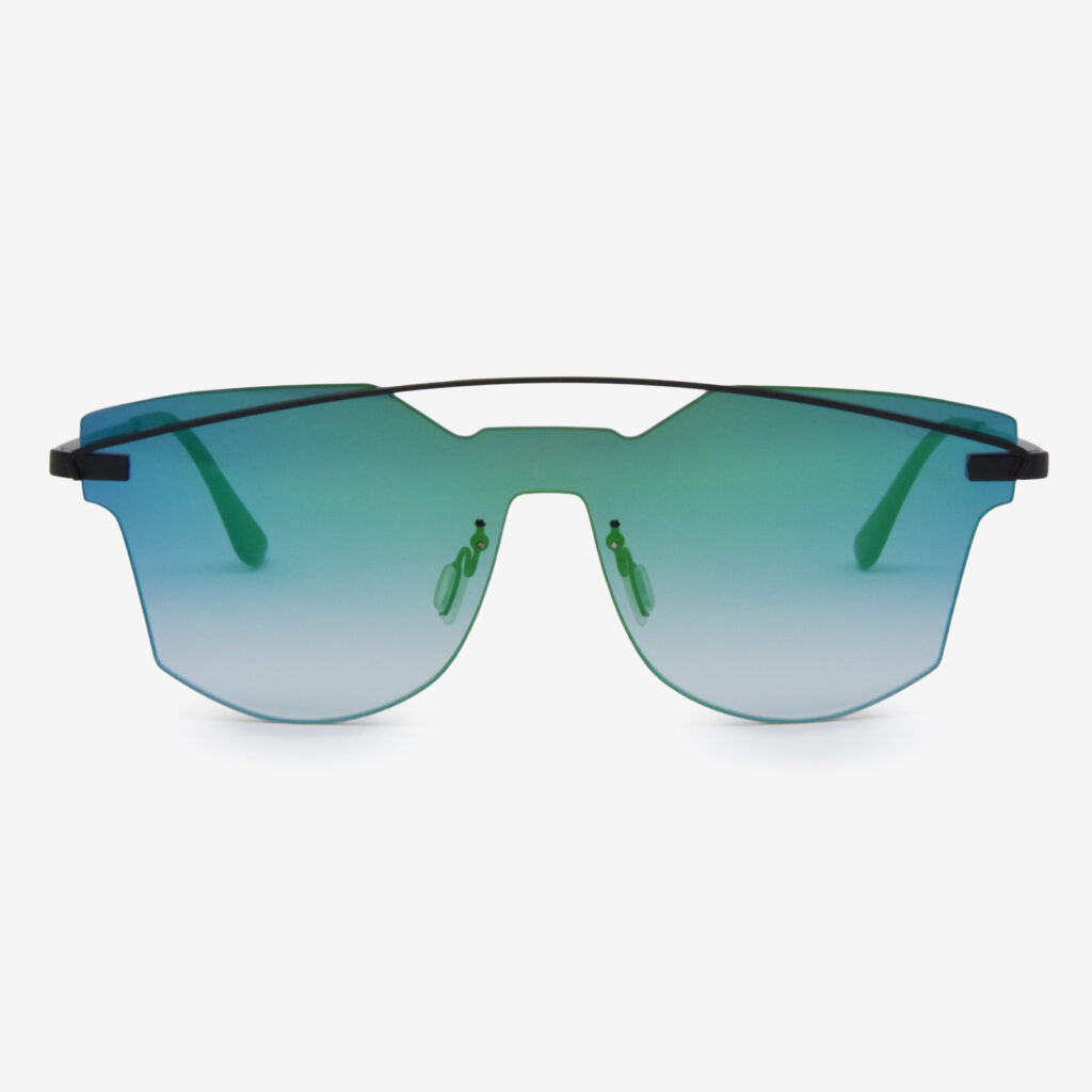 women's and men's sun glasses made in italy hunters eyemask glassing gp8 green