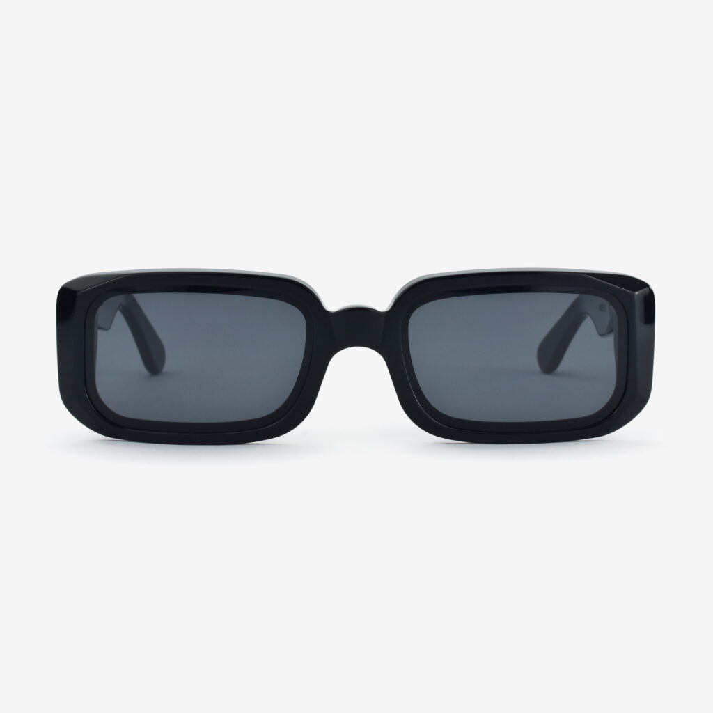 women's and men's sun glasses made in italy hunters glassing prismik baguette black