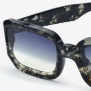 sunglasses glassing prismik baguette black marble woman man made in italy