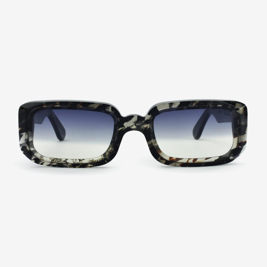 women's and men's sun glasses made in italy hunters sunglasses glassing prismik baguette black marble
