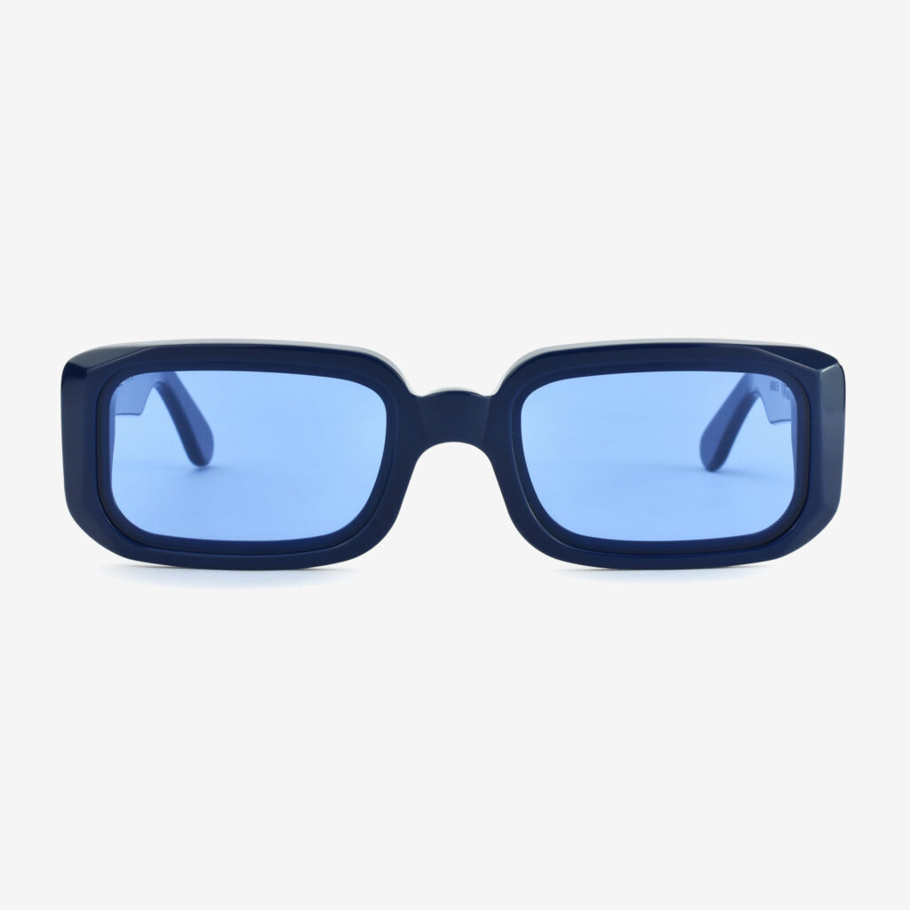 women's and men's sun glasses made in italy hunters glassing prismik baguette havanaglassing prismik baguette blue navy