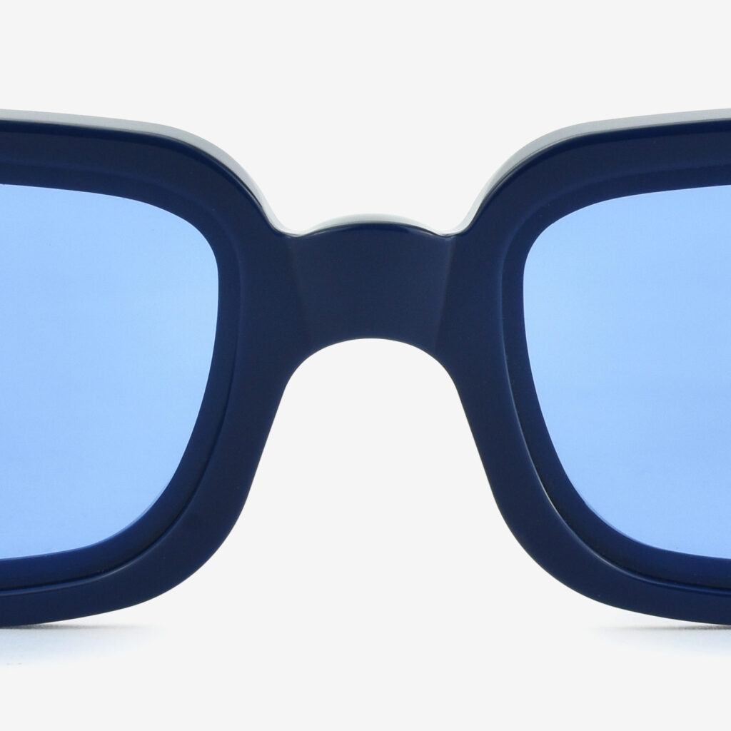 sunglasses glassing prismik baguette blue navy woman man made in italy