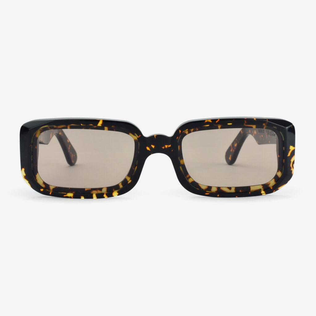 women's and men's sun glasses made in italy hunters glassing prismik baguette havana