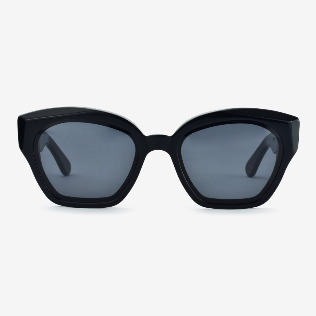 women's and men's sun glasses made in italy hunters glassing prismik brillante black