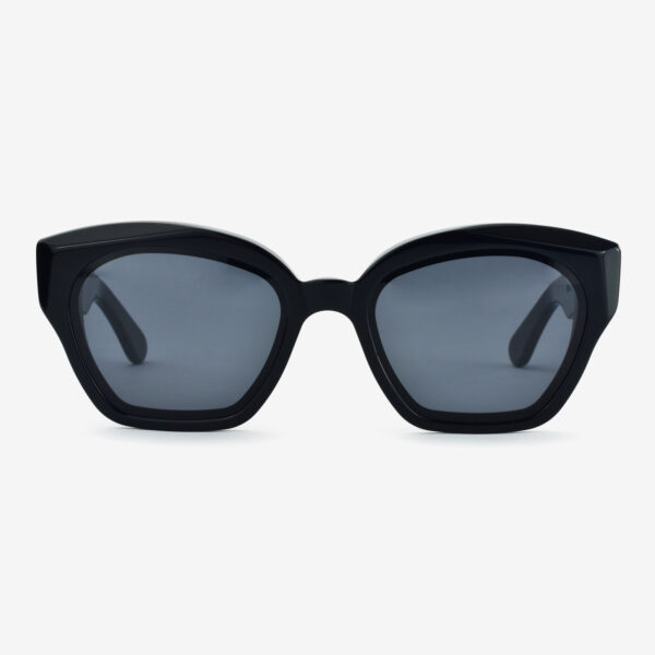 women's and men's sun glasses made in italy hunters glassing prismik brillante black