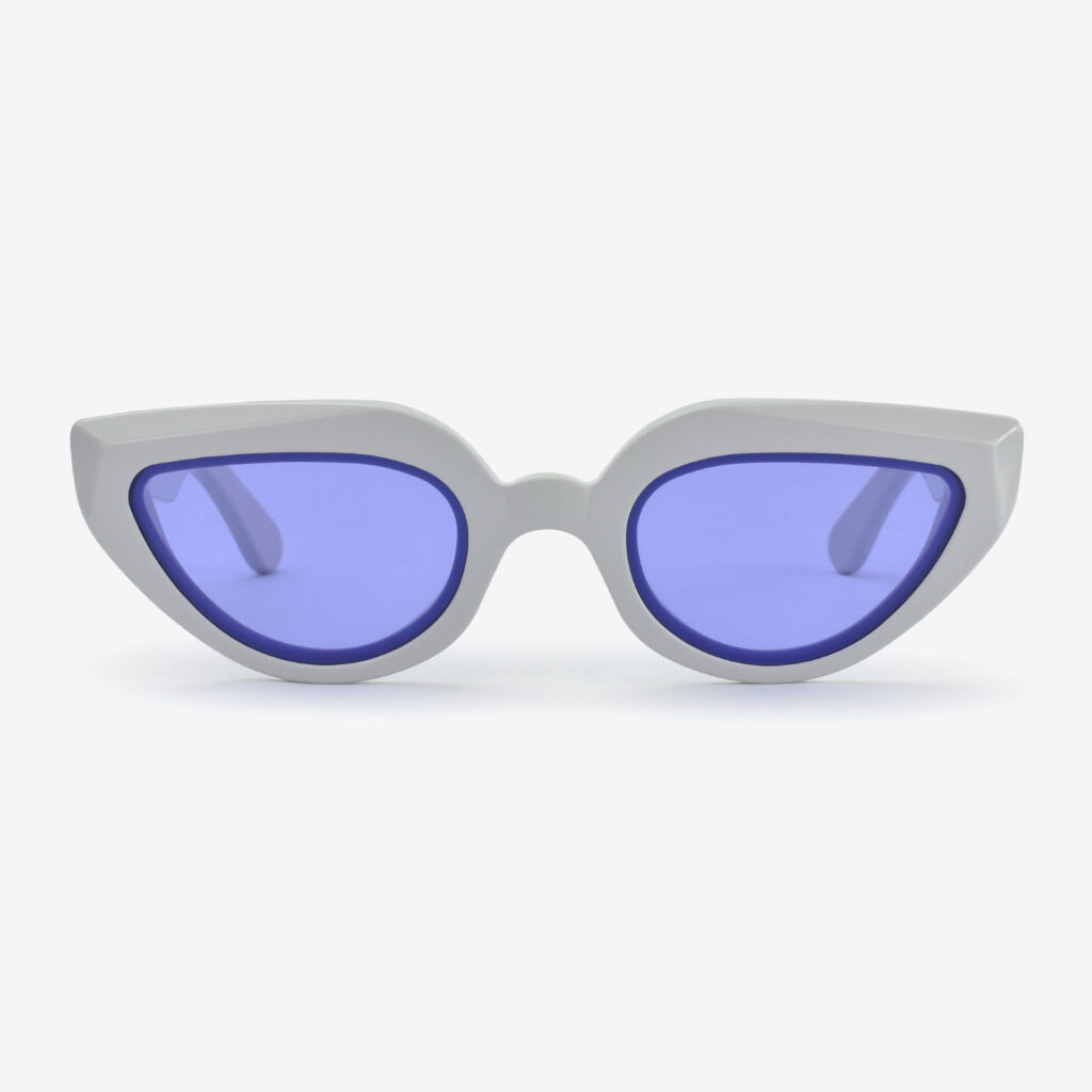 women's and men's sun glasses made in italy hunters glassing prismik marquise ice grey