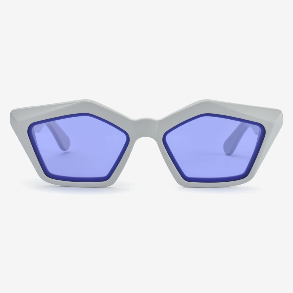 women's and men's sun glasses made in italy hunters glassing prismik smeraldo ice grey violet