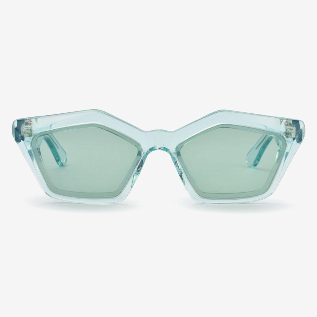 women's and men's sun glasses made in italy hunters glassing prismik smeraldo light sky blue green