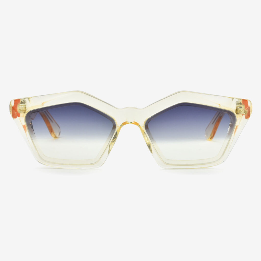 women's and men's sun glasses made in italy hunters glassing prismik smeraldo light yellow