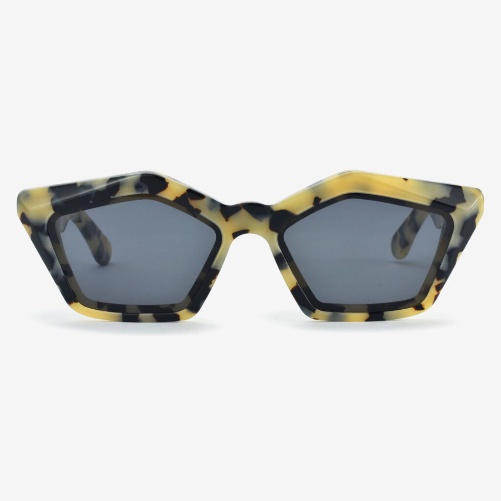 women's and men's sun glasses made in italy hunters glassing prismik smeraldo white marble