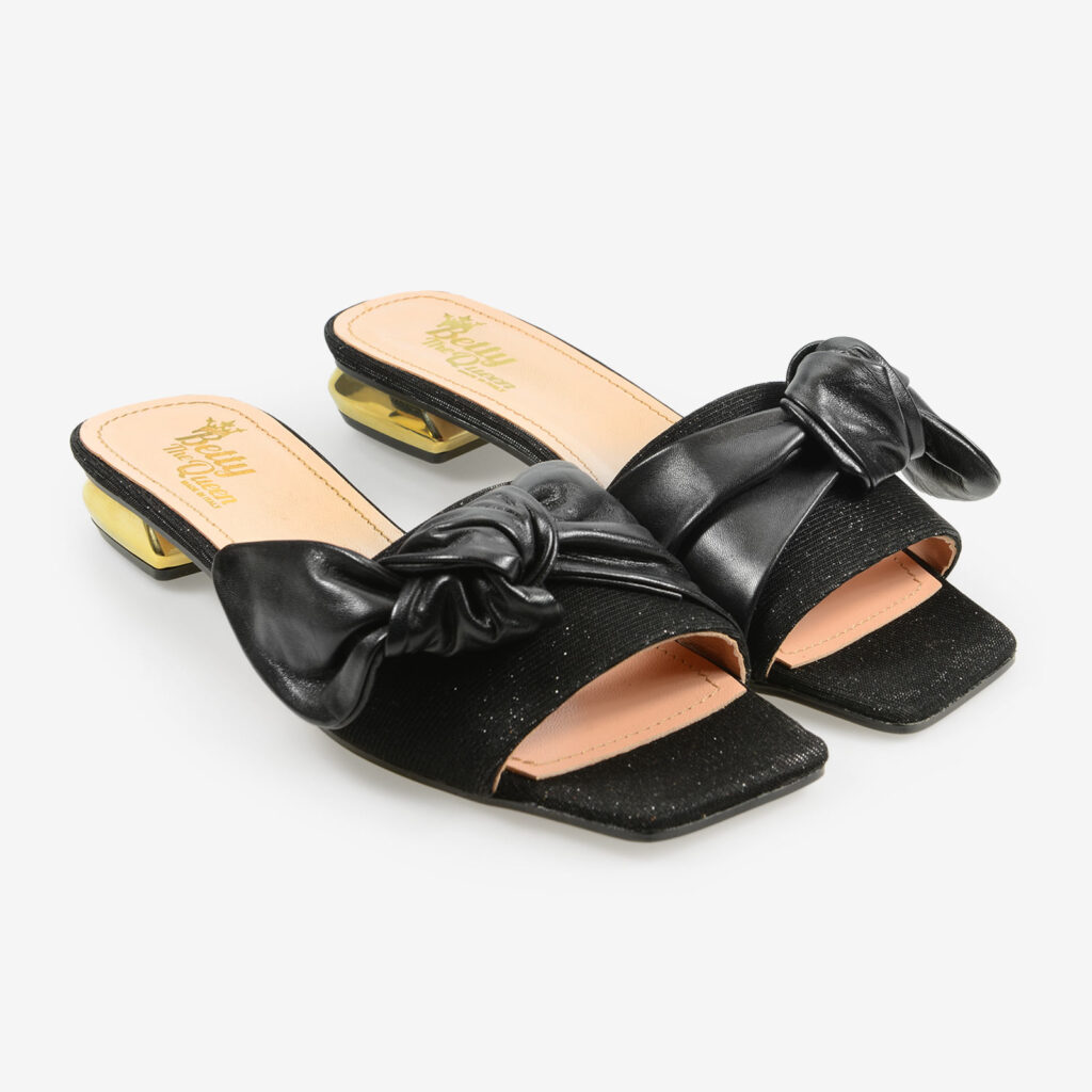 made in italy wome's flats sandals black leather gold