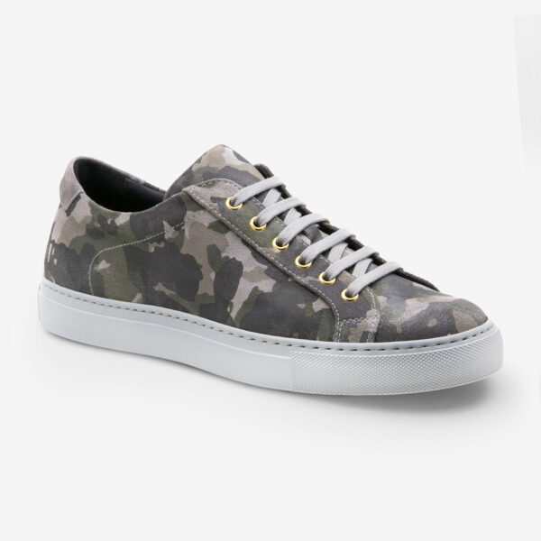 made in italy man shoes leather sneakers camouflage