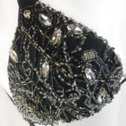 detail wow irina iuganu hand made in italy jewel bikini black