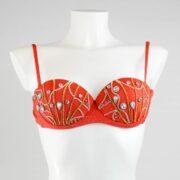 wow irina iuganu hand made in italy jewel bikini orange