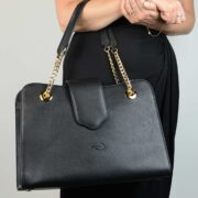 made in italy women leather bag black