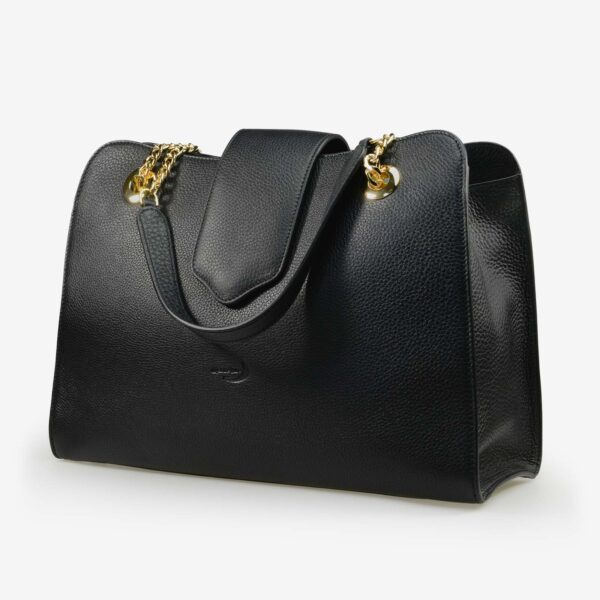 made in italy women leather bag onda black
